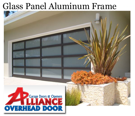 Glass Panel Aluminum Frame Garage Door