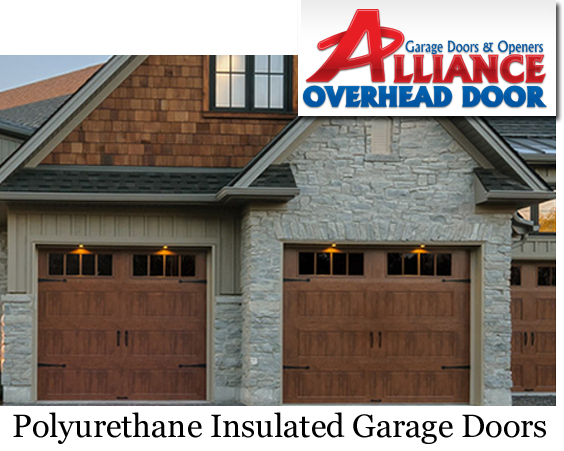 Polyurethane Insulated Faux Wood Modern garage Door