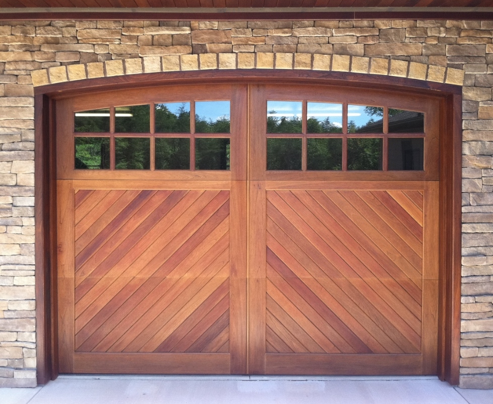Buy new wood garage door Texas